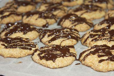 Kokosmakronen mit Schokolade