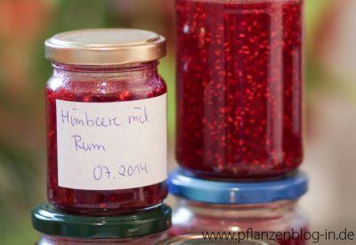 Himbeer-Marmelade mit Rum