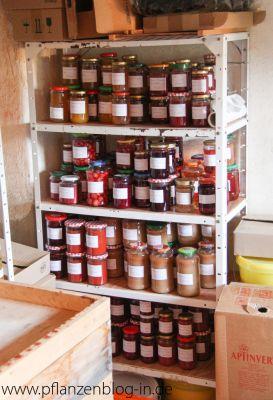 Marmelade im Keller
