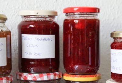 Erdbeer-Stachelbeermarmelade