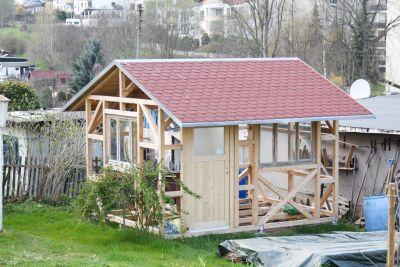 Gartenhausbau aufbauen