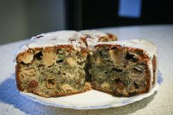 Apfelkuchen mit Marzipan & Mohn